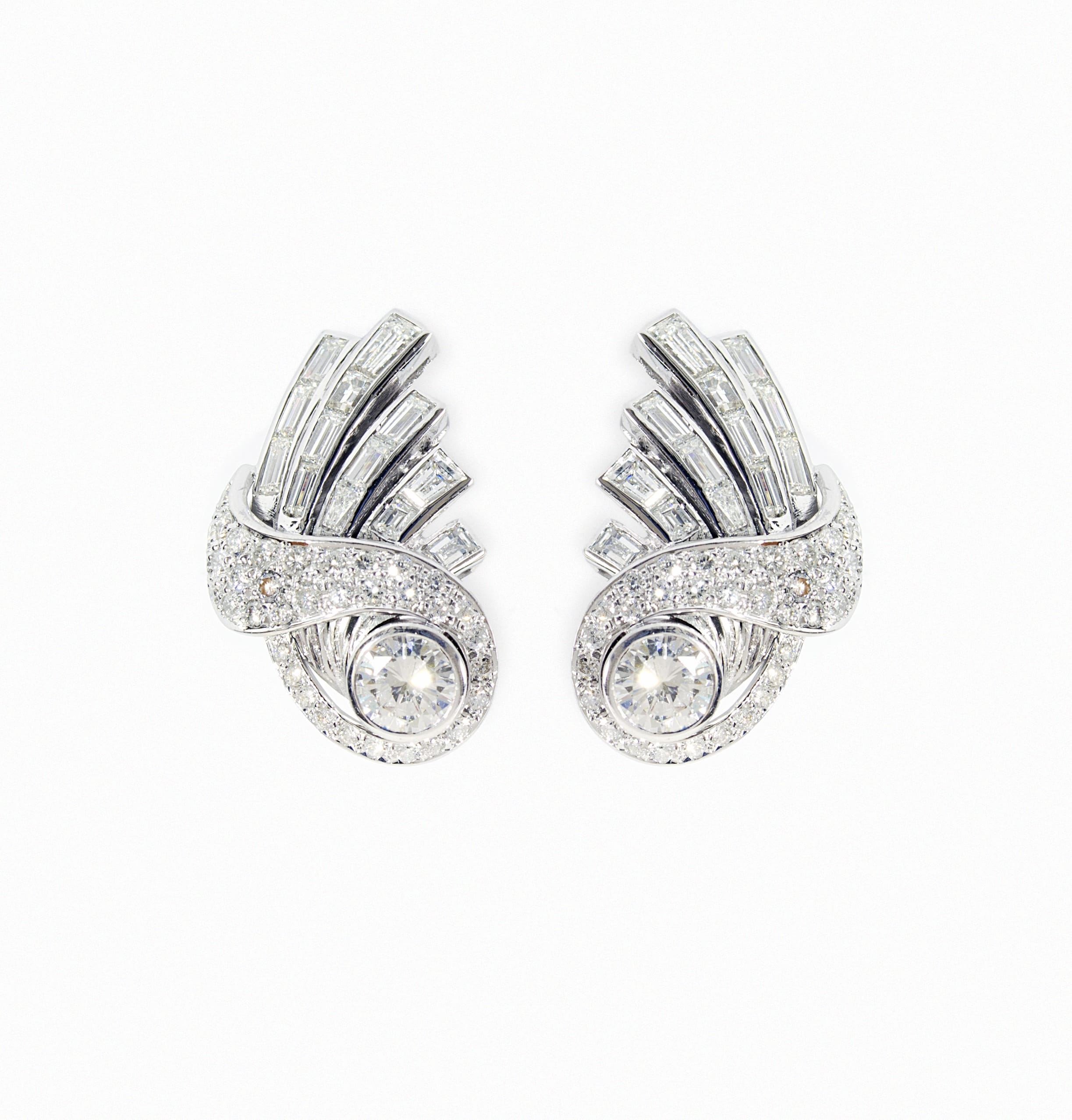 White Gold Earrings with brilliant cutted diamonds
